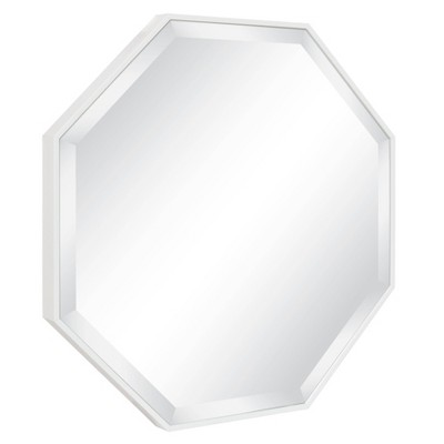 """25"""" x 25"""" Rhodes Framed Octagon Wall Mirror White - Kate and Laurel"""