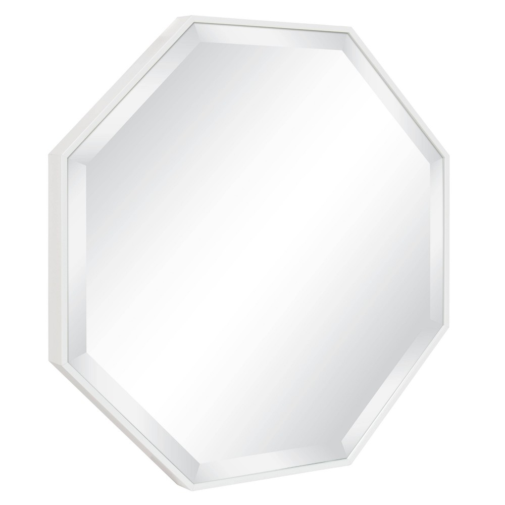 "Image of ""24.75""""x24.75"""" Rhodes Framed Octagon Wall Mirror White - Kate and Laurel"""