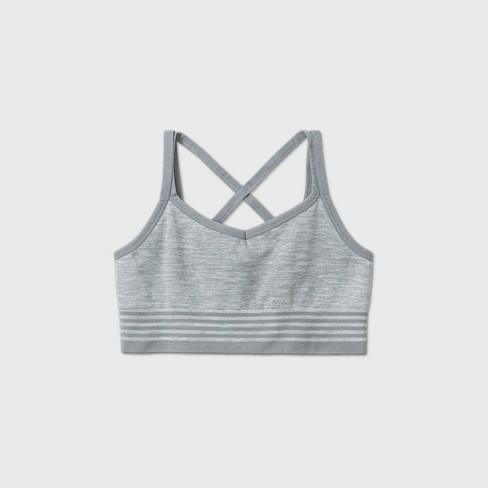 Girls' Seamless Cami Strap Bra - All in Motion™ Gray - image 1 of 2