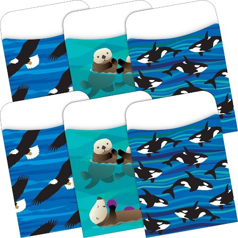 Barker Creek 60pc Sea and Sky Peel and Stick Pockets Multi Design Set - image 1 of 3