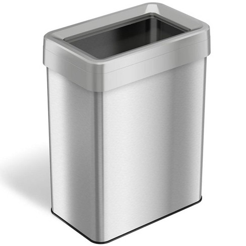 iTouchless 18 Gallon Open Top Odor Deodorizer Garbage Trash Can, Stainless Steel - image 1 of 4