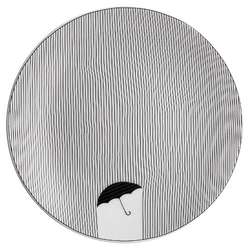 "Cheeky® 12"" Porcelain Platter - Fine Lines Umbrella - image 1 of 2"