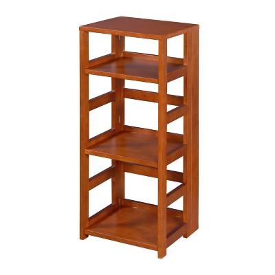 "34"" Cakewalk High Square Folding Bookcase Cherry - Regency"