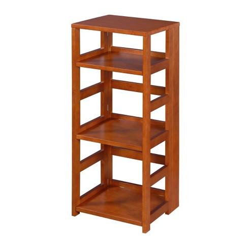 "34"" Cakewalk High Square Folding Bookcase - Regency - image 1 of 4"