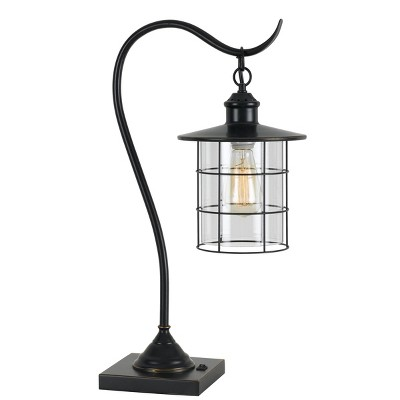 "34"" Silverton Desk/Table Lamp Includes (Includes Light Bulb) Dark Bronze - Cal Lighting"