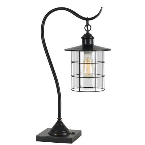 "34"" Silverton Desk/Table Lamp Includes (Includes Light Bulb) Dark Bronze - Cal Lighting - image 1 of 1"