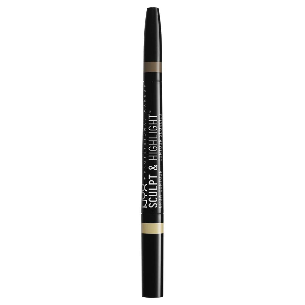 Nyx Professional Makeup Sculpt & Highlight Brow Contour Light Beige/Espresso - 0.025oz, Light Beige/Brown