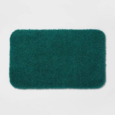 """23""""x37"""" Perfectly Soft Nylon Solid Bath Rug Bluff Green - Opalhouse™"""