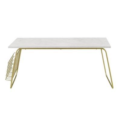 Modern Coffee Table with Magazine Holder - Saracina Home
