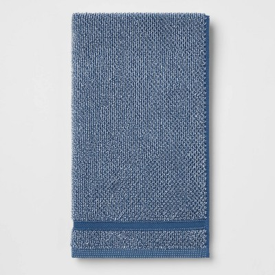 Performance Texture Hand Towel Dark Blue - Threshold™