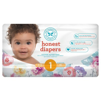 Honest Company Diapers, Rose Blossom - Size 1 (44ct)