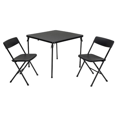 3 Piece Indoor Outdoor Square Table and 2 Chair Tailgate Set - Cosco - image 1 of 4