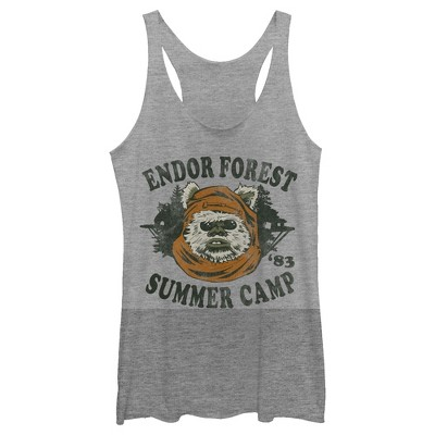 Women's Star Wars Ewok Summer Camp Racerback Tank Top