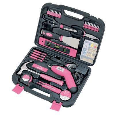 Apollo Tools 135pc Household Tool Kit DT0773N1 Pink