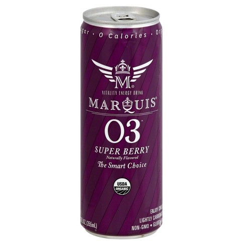 Marquis Super Berry Energy Drink - 12 fl oz Can - image 1 of 3