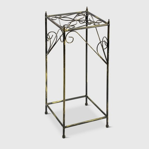 Large Square Iron Plant Stand Black/Gold - Ore International - image 1 of 4