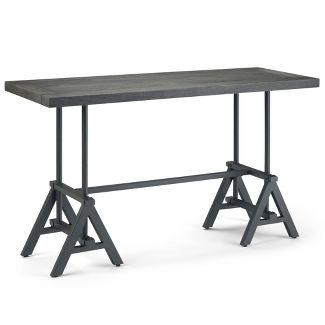 "54"" Borden Console Table Distressed Dark Brown - Wyndenhall"