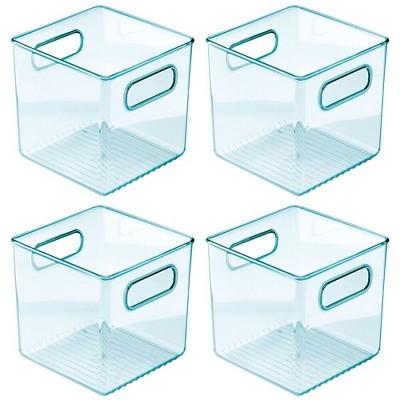 """mDesign Plastic Storage Organizer Bin for Kids Supplies, 8"""" W, 4 Pack"""