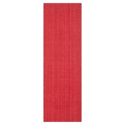 Red Solid Woven Runner 2'3 x7' - Safavieh
