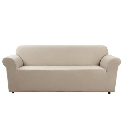 Ultimate Stretch Chenille Sofa Slipcover Natural - Sure Fit