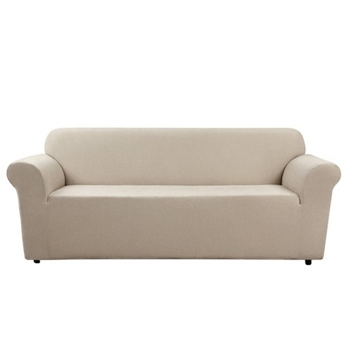 Ultimate Stretch Chenille Sofa Slipcover Natural - Sure Fit - image 1 of 3