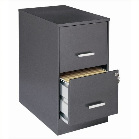 Magnificent 2 Drawer Letter File Cabinet In Charcoal Black Scranton Co Home Interior And Landscaping Analalmasignezvosmurscom