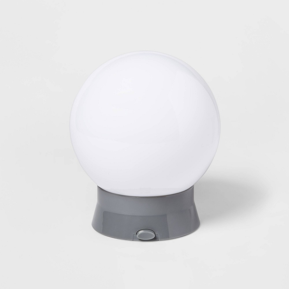 Image of Globe Nightlight White/Silver (Includes Energy Efficient Light Bulb) - Pillowfort