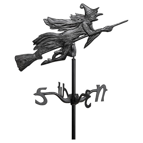 "24"" Flying Witch Garden Weathervane - Black - Whitehall Products - image 1 of 1"
