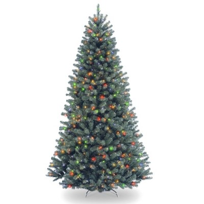 7.5ft National Christmas Tree Company Full North Valley Blue Spruce Artificial Christmas Tree Multicolored