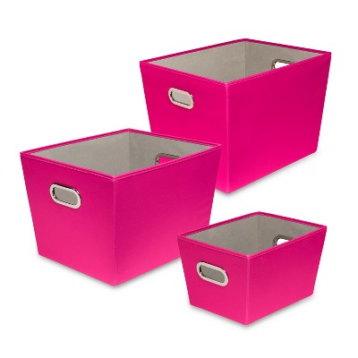 Exceptionnel Honey Can Do Decorative Organizing Totes Pink