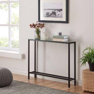 Dillard Narrow Console Table Black - Aiden Lane