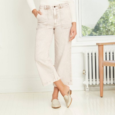 Women's High-Rise Wide Leg Cropped Jeans - Universal Thread™
