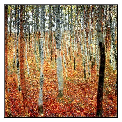 Art.com - Forest of Beech Trees Mounted Print