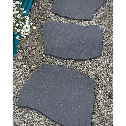 Gardener's Supply Company 100% Recycled Rubber Flagstone Stepping Stone 1/2in Thick - Gardener's Supply Company - image 1 of 4