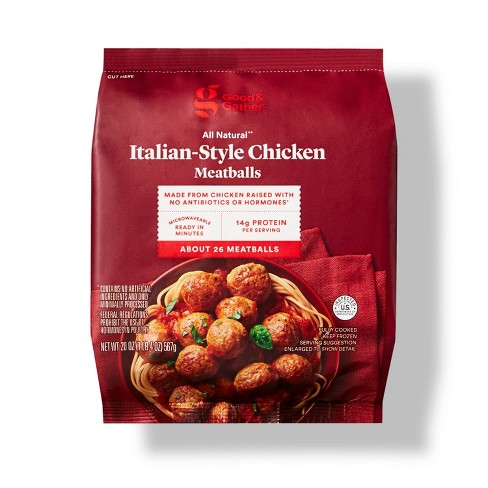 All Natural Italian-Style Chicken Meatballs - Frozen - 20oz - Good & Gather™ - image 1 of 3