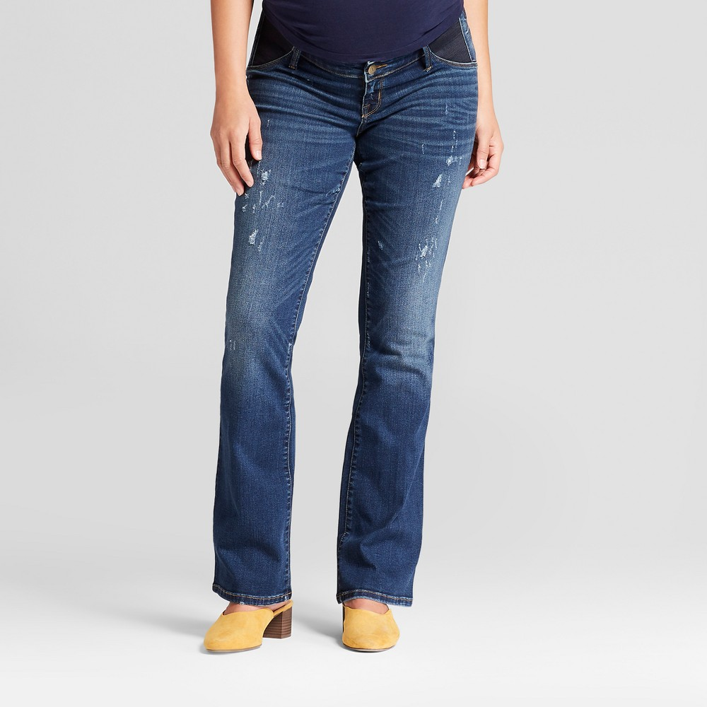 Maternity Inset Panel Bootcut Jeans - Isabel Maternity by Ingrid & Isabel Medium Wash 00, Women's, Blue
