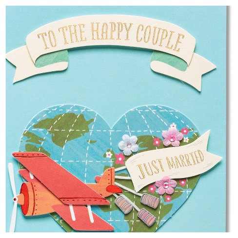 Wedding Greeting Cards.Papyrus Just Married Wedding Congratulations Card