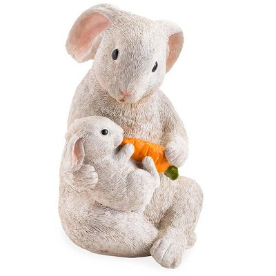 Wind & Weather Rabbit with Baby and Carrot Indoor/Outdoor Resin Statue
