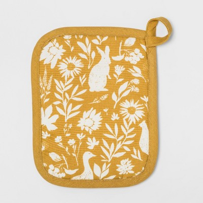 Signature Print Pot Holder Gold - Threshold™