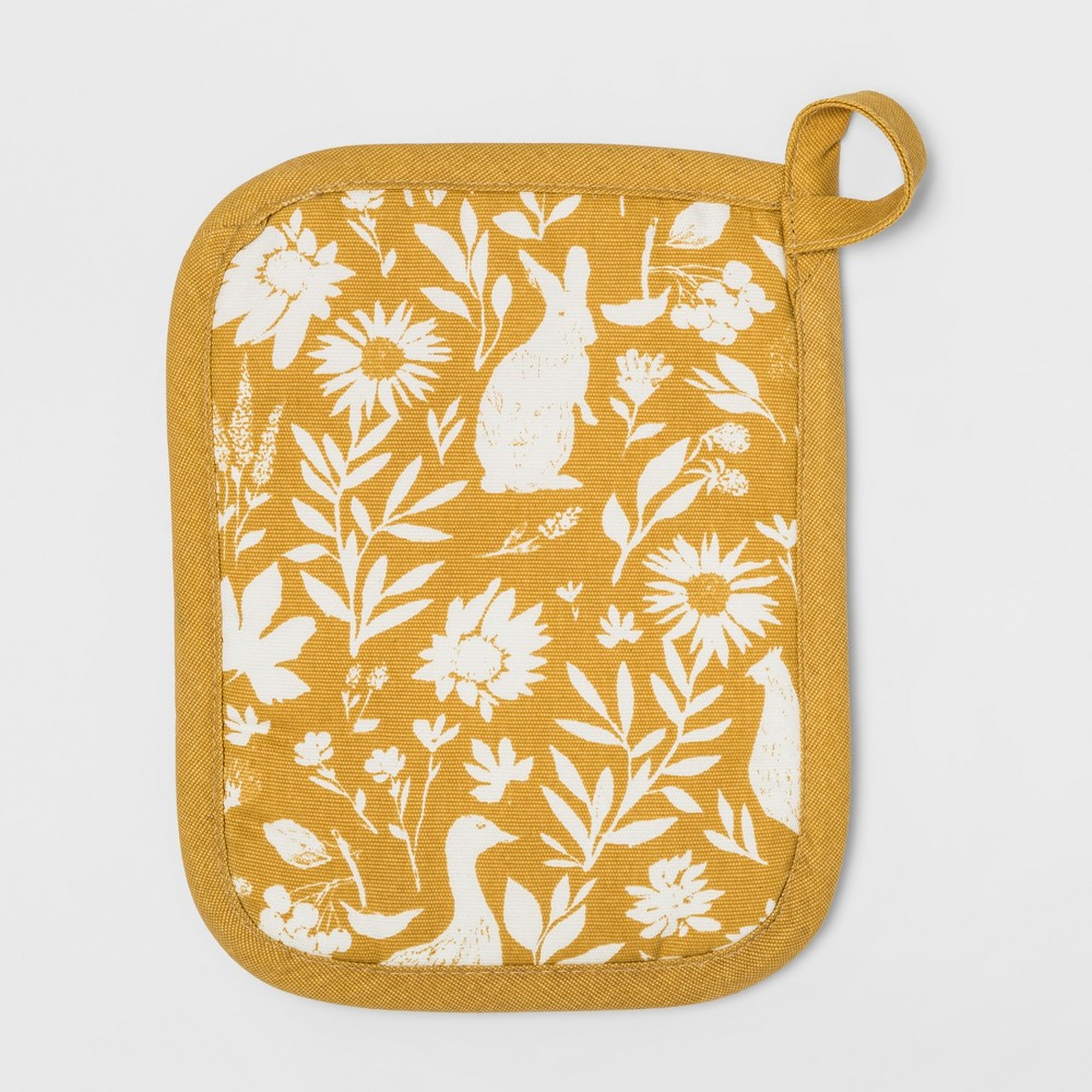 Signature Print Pot Holder Gold - Threshold