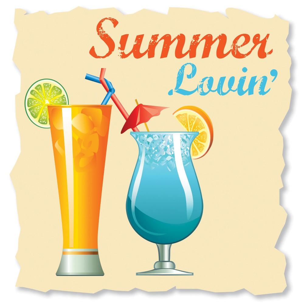 Image of 16ct Summer Lovin' Cocktail Beverage Napkins