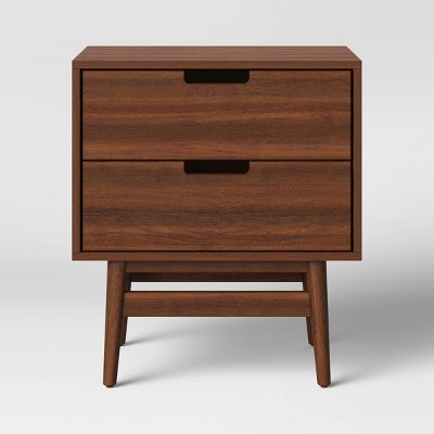 Ellwood Nightstand with Drawers Brown - Project 62™
