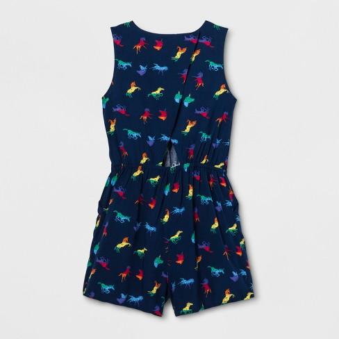 626021038181 Pride Adult Gender Inclusive Unicorn Printed Romper - Navy   Target