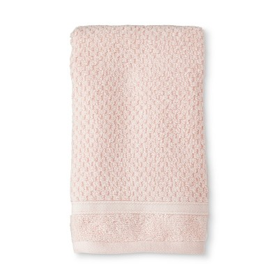 Hand Towel Performance Texture Bath Towels And Washcloths Porcelain Pink - Threshold™