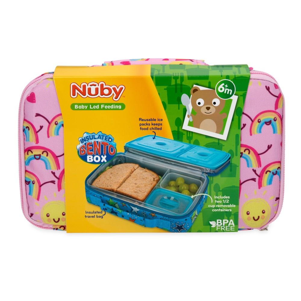 Nuby Hungry Kids 39 Bento Box Rainbow