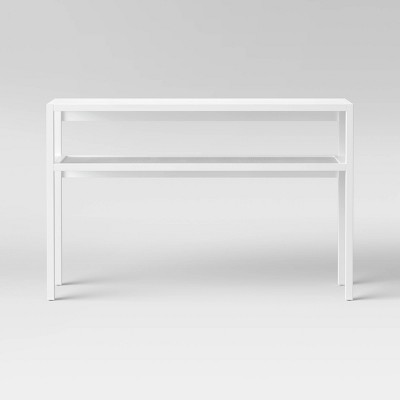 Warwick Narrow Console Table with Shelf White - Threshold™