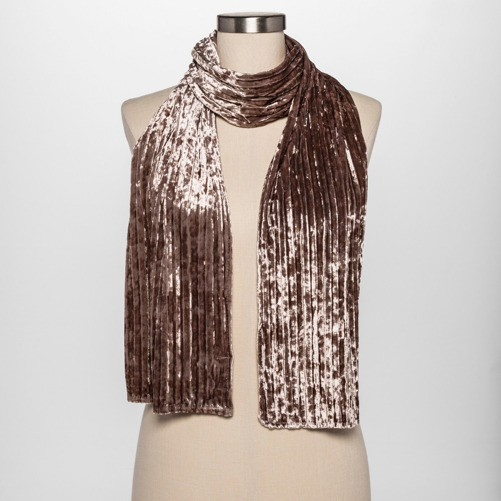 Women's Velvet Scarf - Estee & Lilly Natural