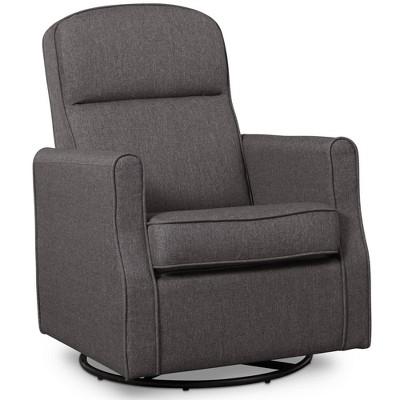Delta Children Blair Slim Nursery Glider Swivel Rocker Chair - Charcoal