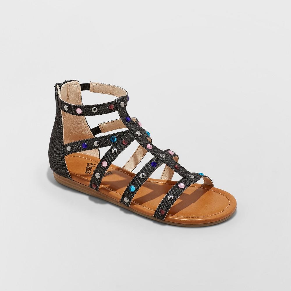 Image of Girls' Fritzi Embellished Gladiator Sandals - art class Black 13, Girl's