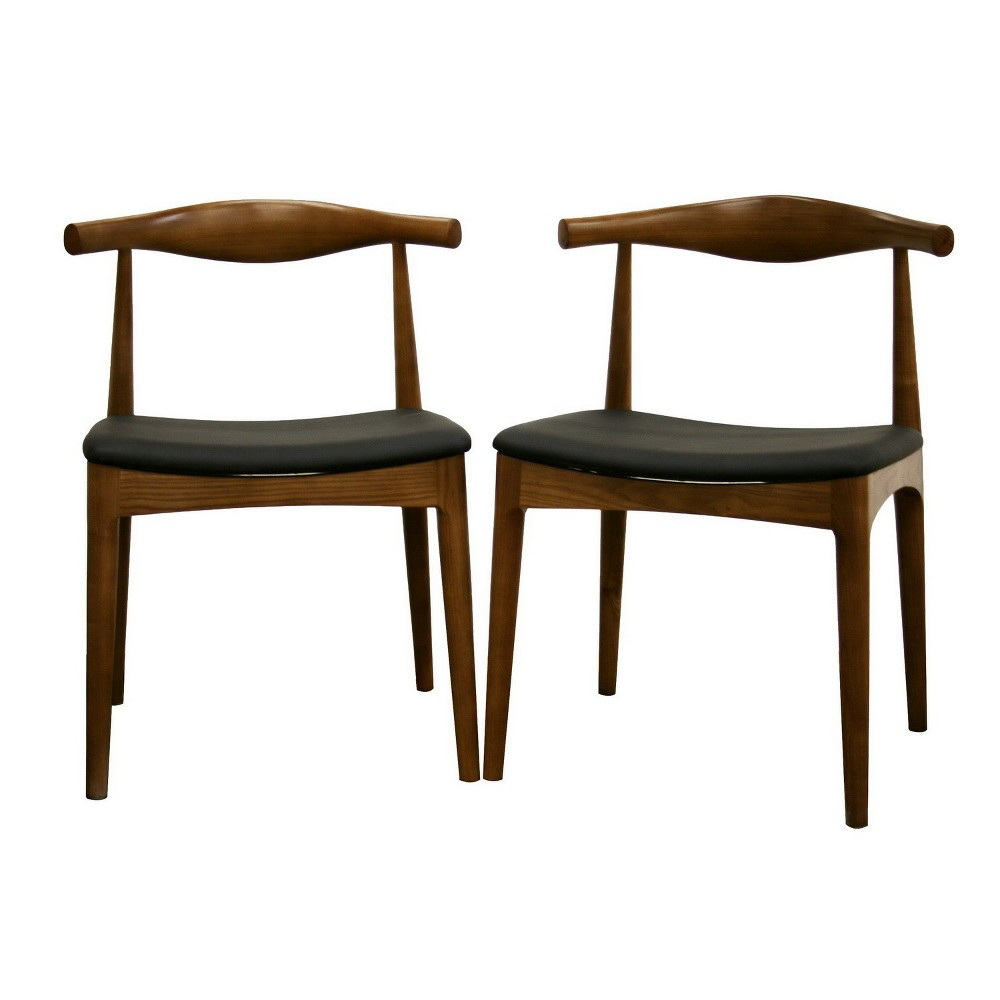 Sonore Solid Wood Mid Century Style Accent Chair Dining Chair Baxton Studio
